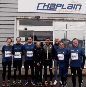 Chaplain participe au Marathon Vert